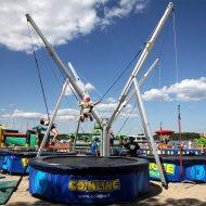 4-paikkainen benji-trampoliini