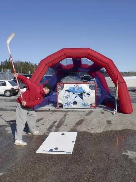 Jääkiekkomaali + suojakehikko