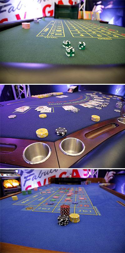 Vuokraa Casinopelipöytä, Ruletti, Black jack tai Lucky Dice Noppapelipöytä